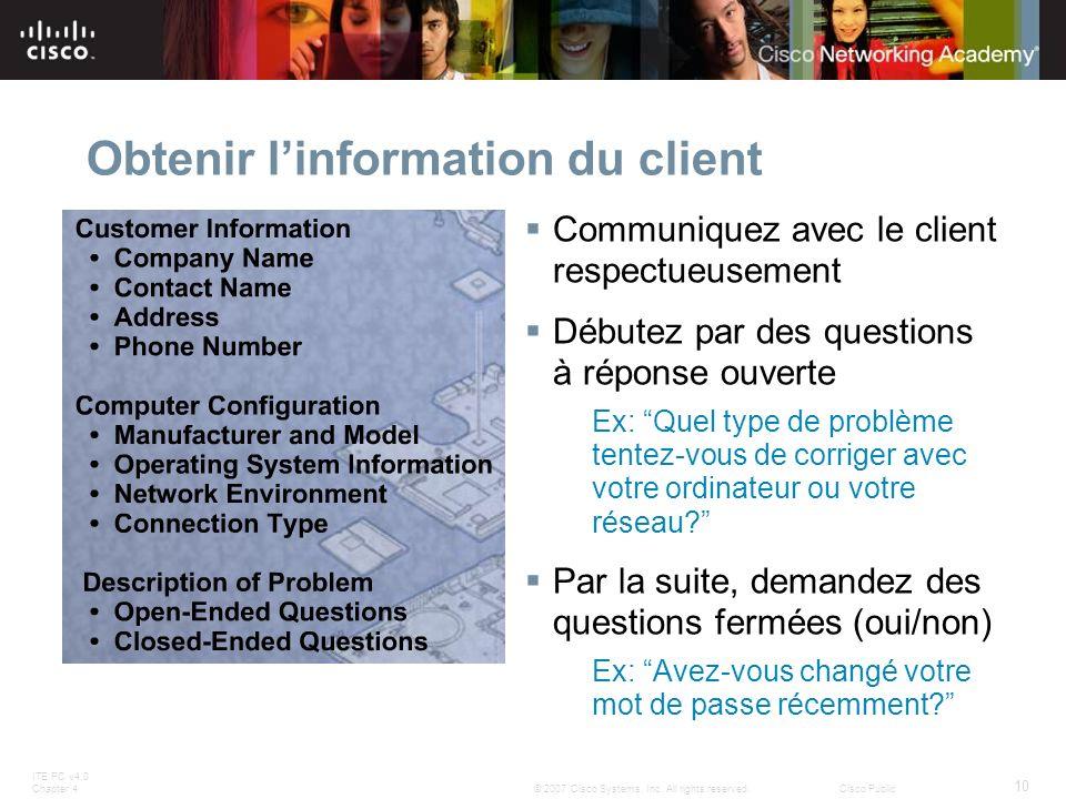 Obtenir l'information du client