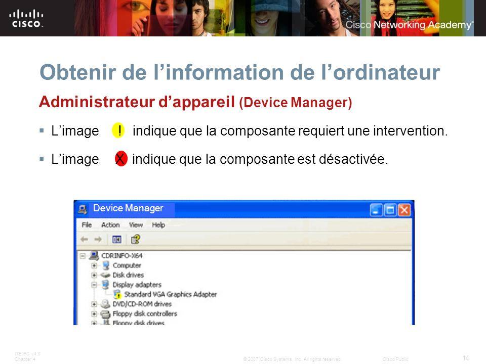 Obtenir de l'information de l'ordinateur