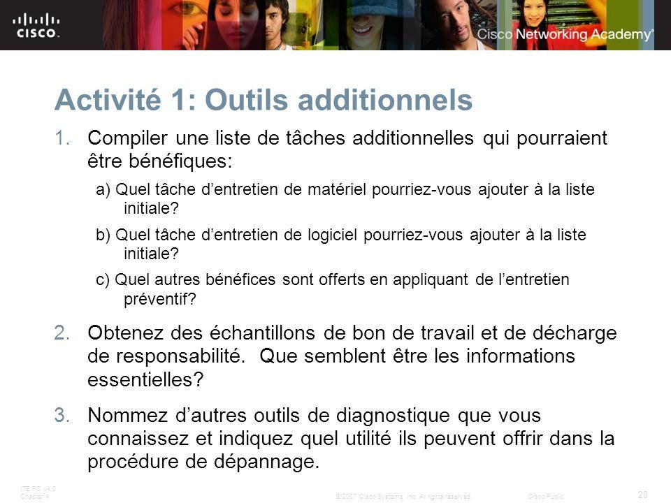 Activité 1: Outils additionnels