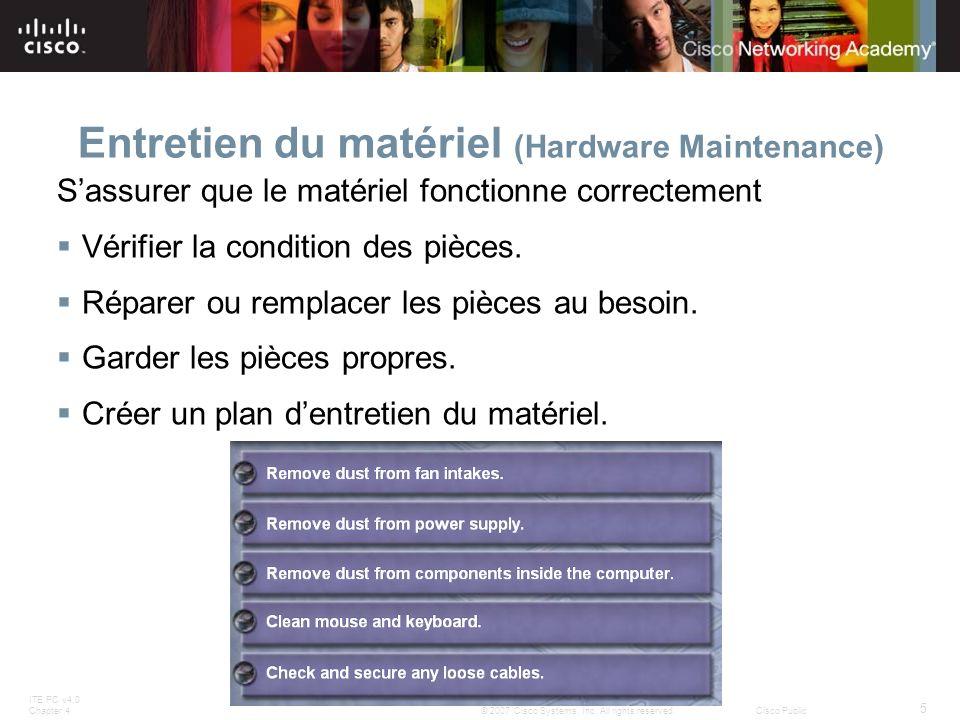 Entretien du matériel (Hardware Maintenance)