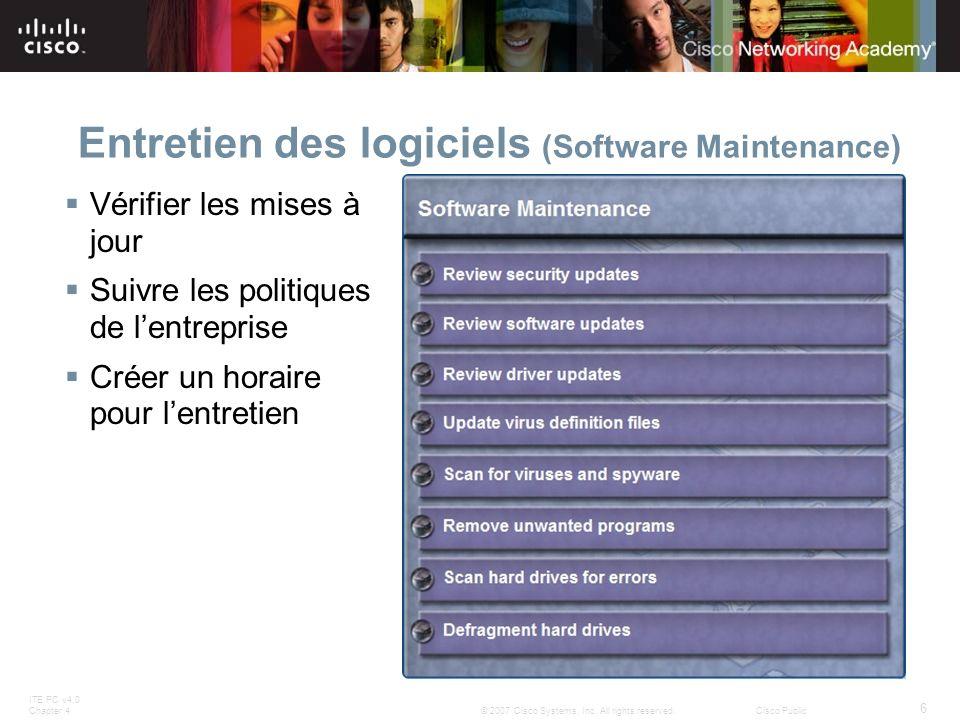 Entretien des logiciels (Software Maintenance)