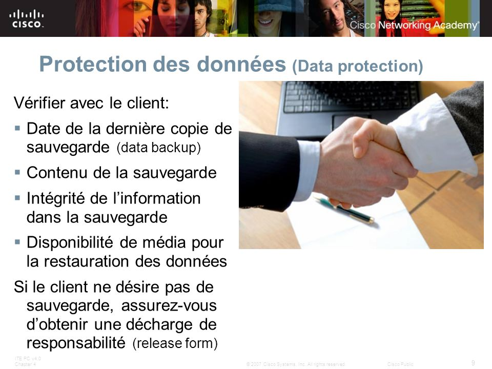 Protection des données (Data protection)