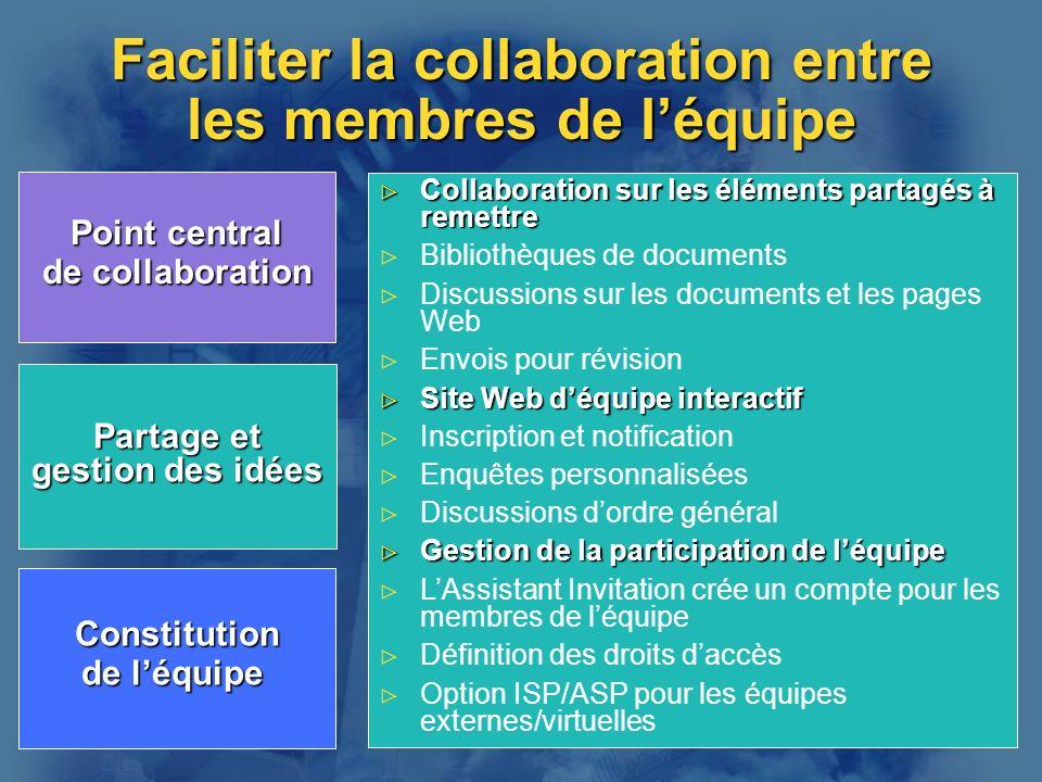 Faciliter la collaboration entre les membres de l'équipe