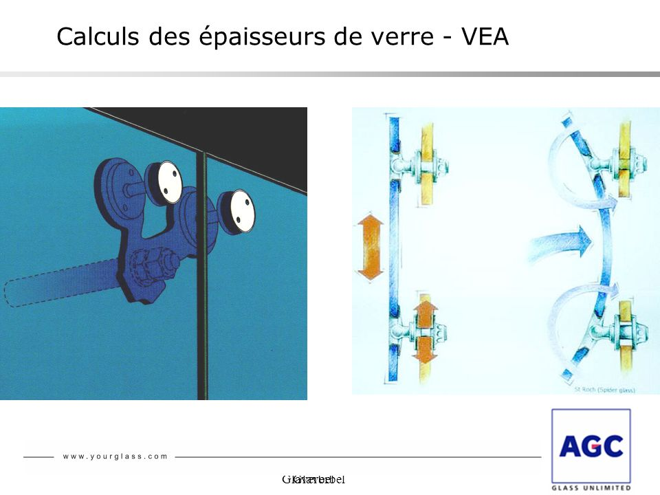 Calculs des épaisseurs de verre - VEA