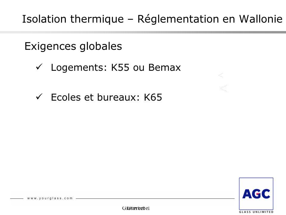 Isolation thermique – Réglementation en Wallonie