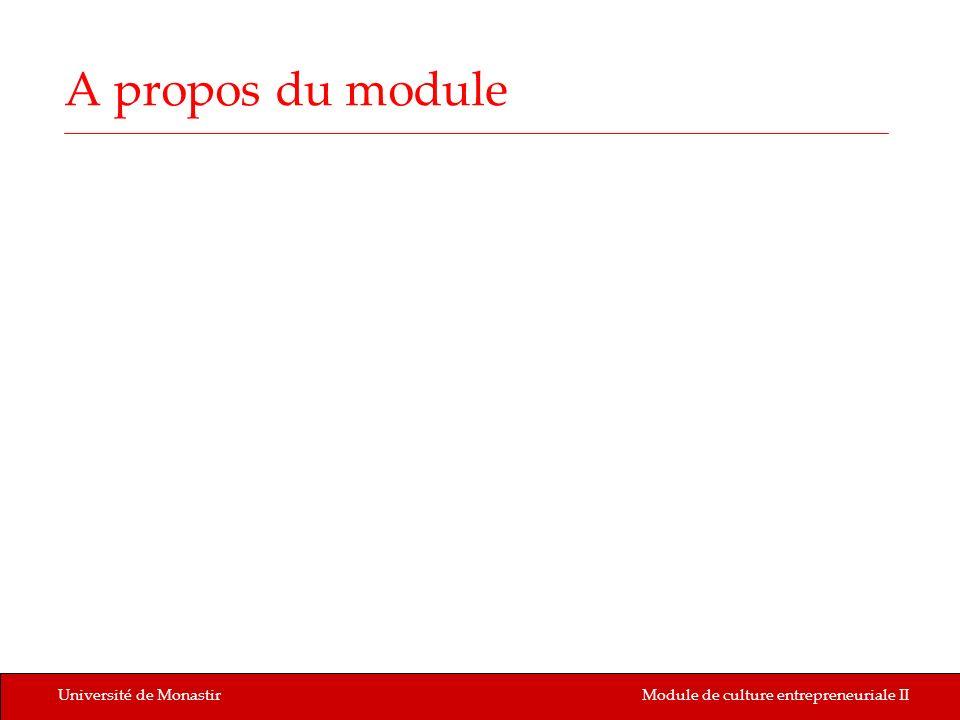 A propos du module Université de Monastir
