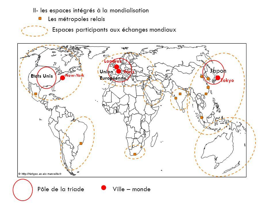 L'organisation de l'espace mondialisé