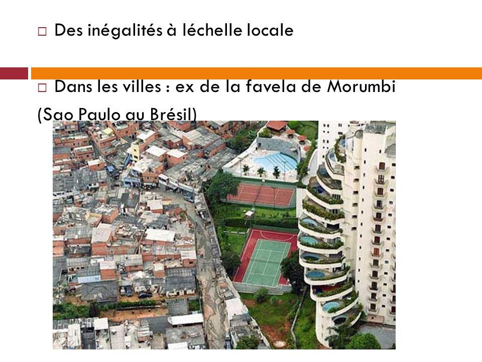 Des inégalités à léchelle locale