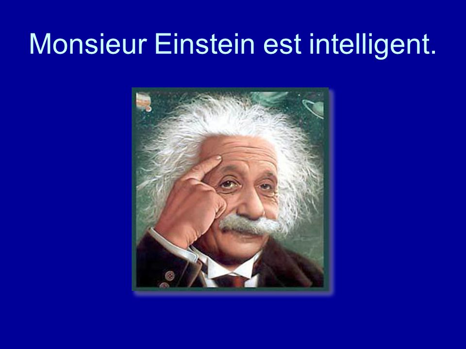 Monsieur Einstein est intelligent.