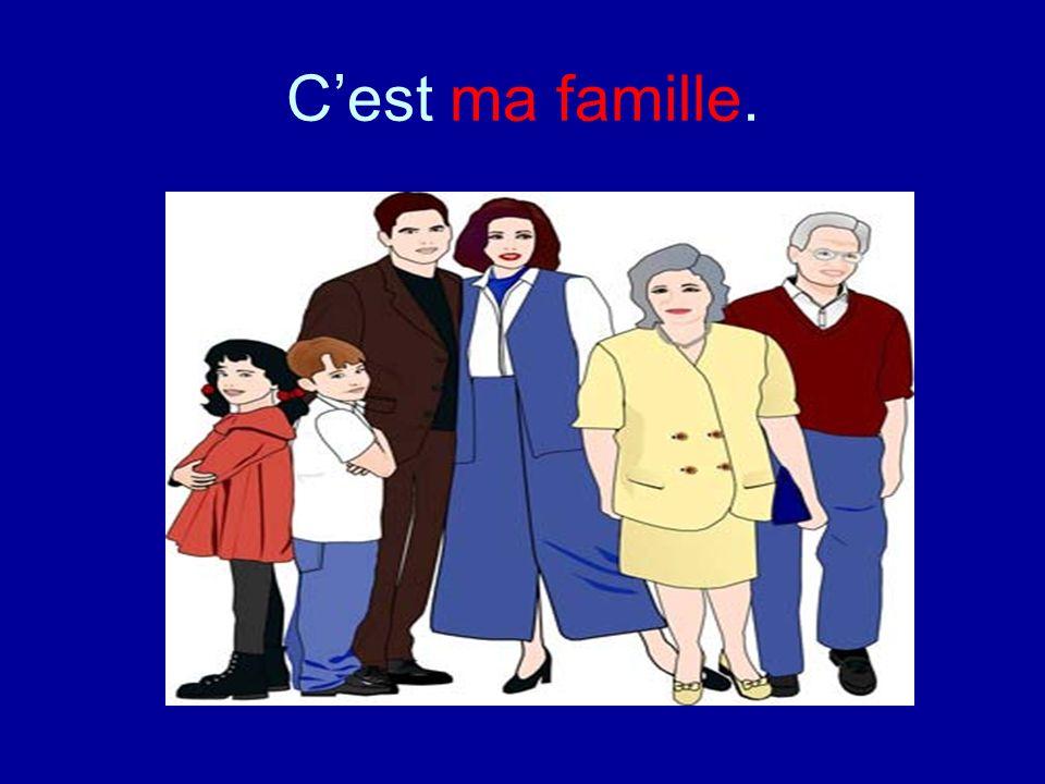 C'est ma famille.