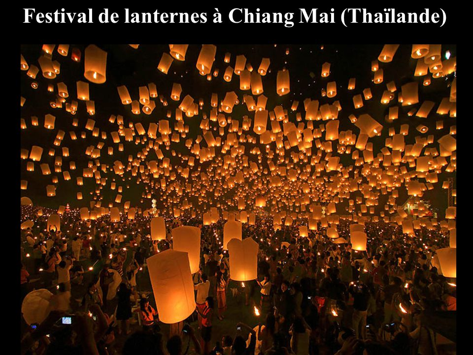 Festival de lanternes à Chiang Mai (Thaïlande)