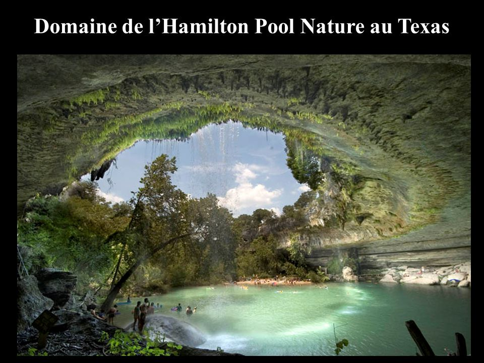 Domaine de l'Hamilton Pool Nature au Texas
