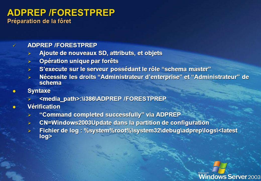 ADPREP /FORESTPREP Préparation de la fôret
