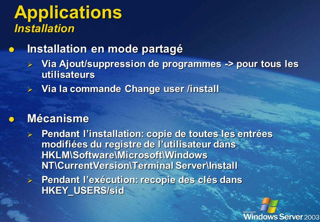 Applications Installation