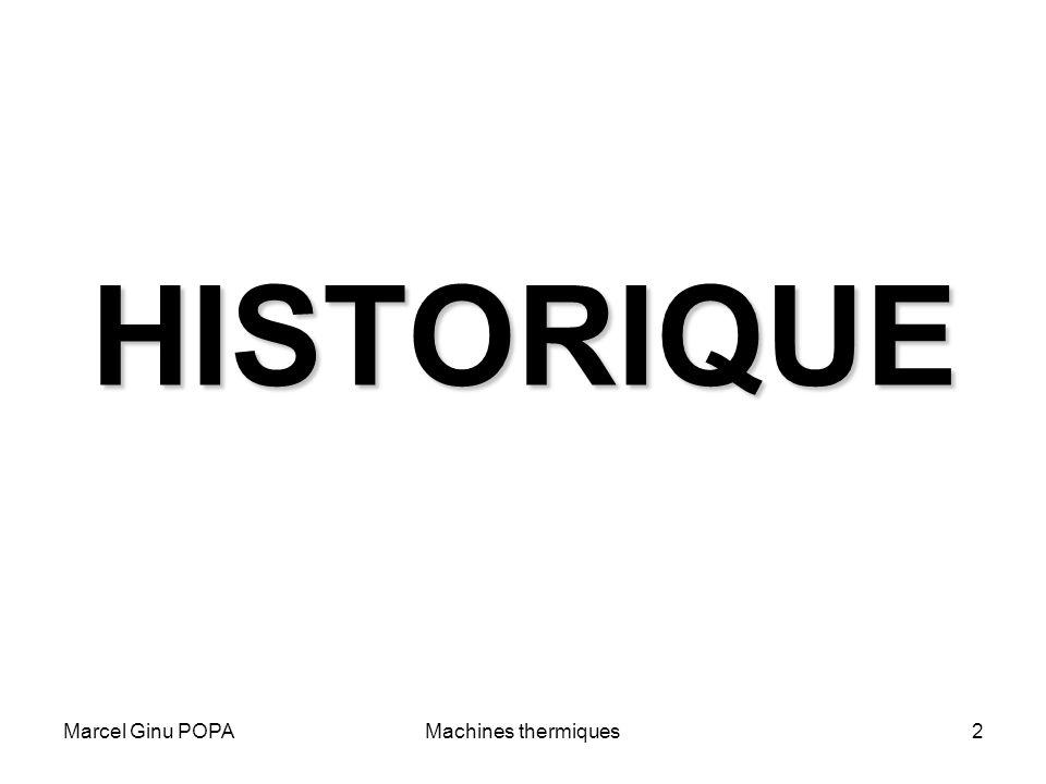 HISTORIQUE Marcel Ginu POPA Machines thermiques