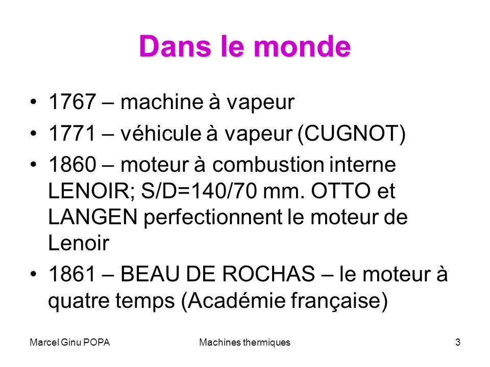 Dans le monde 1767 – machine à vapeur