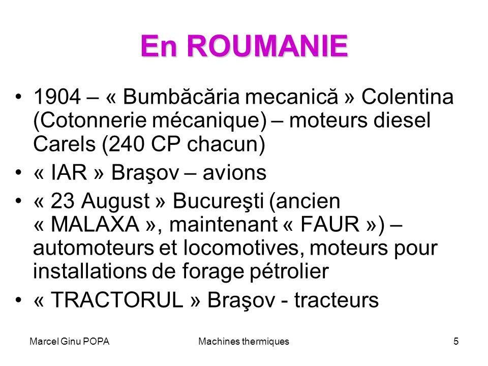 En ROUMANIE 1904 – « Bumbăcăria mecanică » Colentina (Cotonnerie mécanique) – moteurs diesel Carels (240 CP chacun)