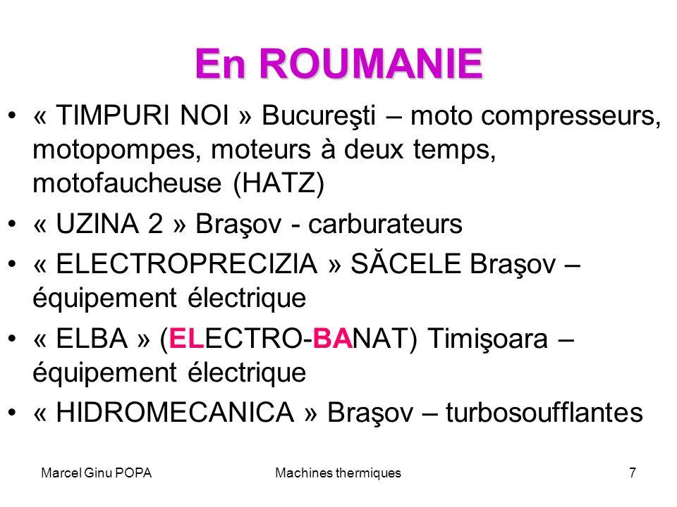 En ROUMANIE « TIMPURI NOI » Bucureşti – moto compresseurs, motopompes, moteurs à deux temps, motofaucheuse (HATZ)