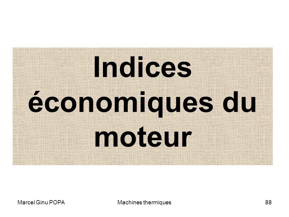 Indices économiques du moteur