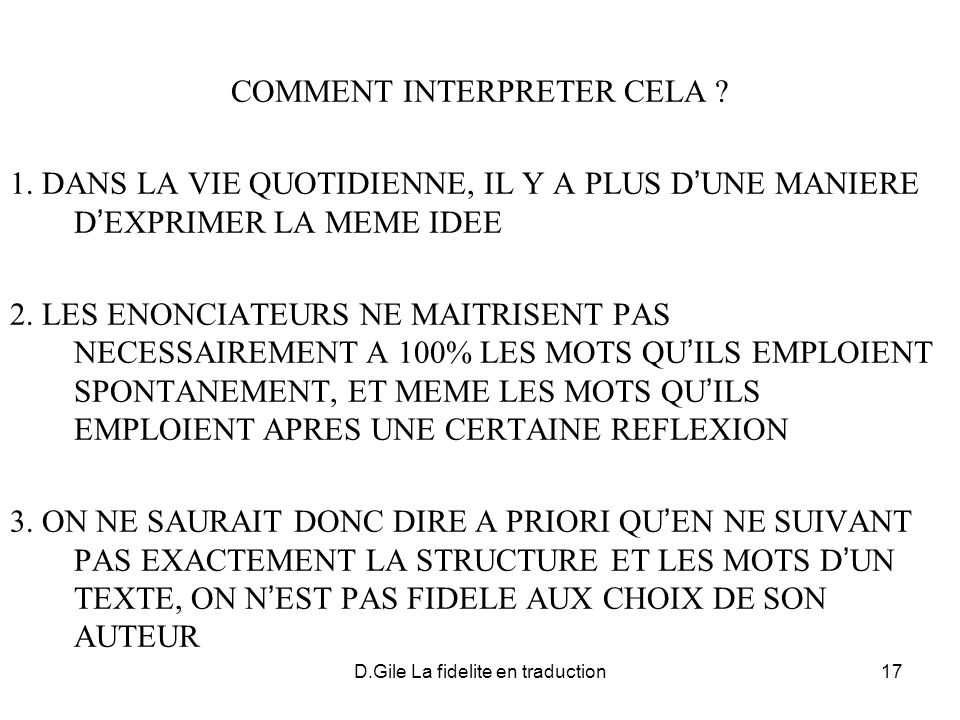 COMMENT INTERPRETER CELA