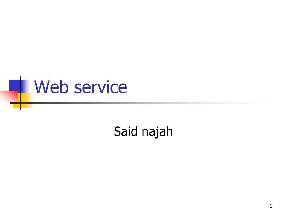 Web service Said najah