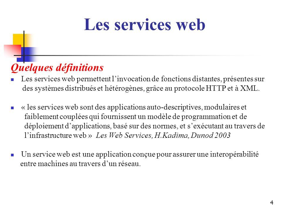 Les services web Quelques définitions