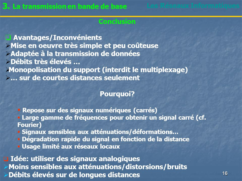 3. La transmission en bande de base