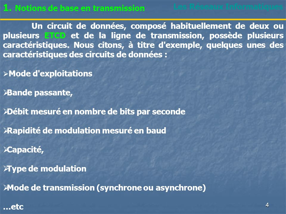 1. Notions de base en transmission