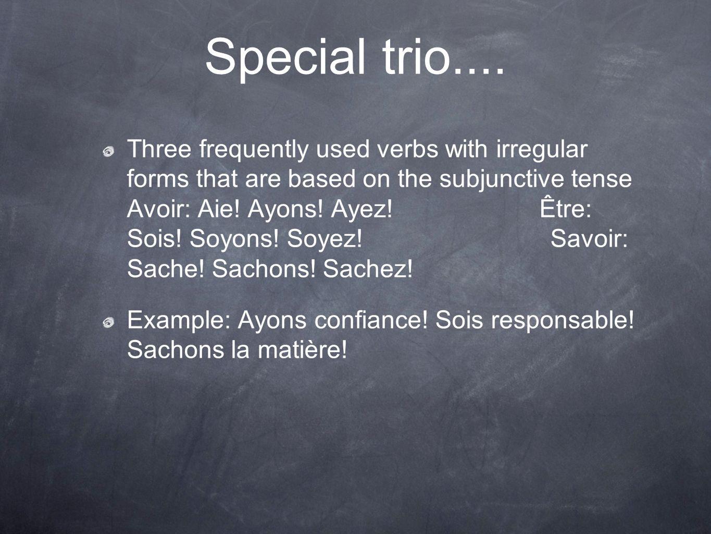 Special trio....