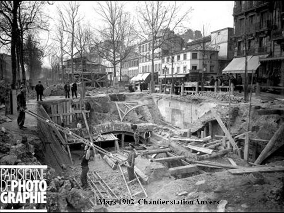 Mars 1902 Chantier station Anvers