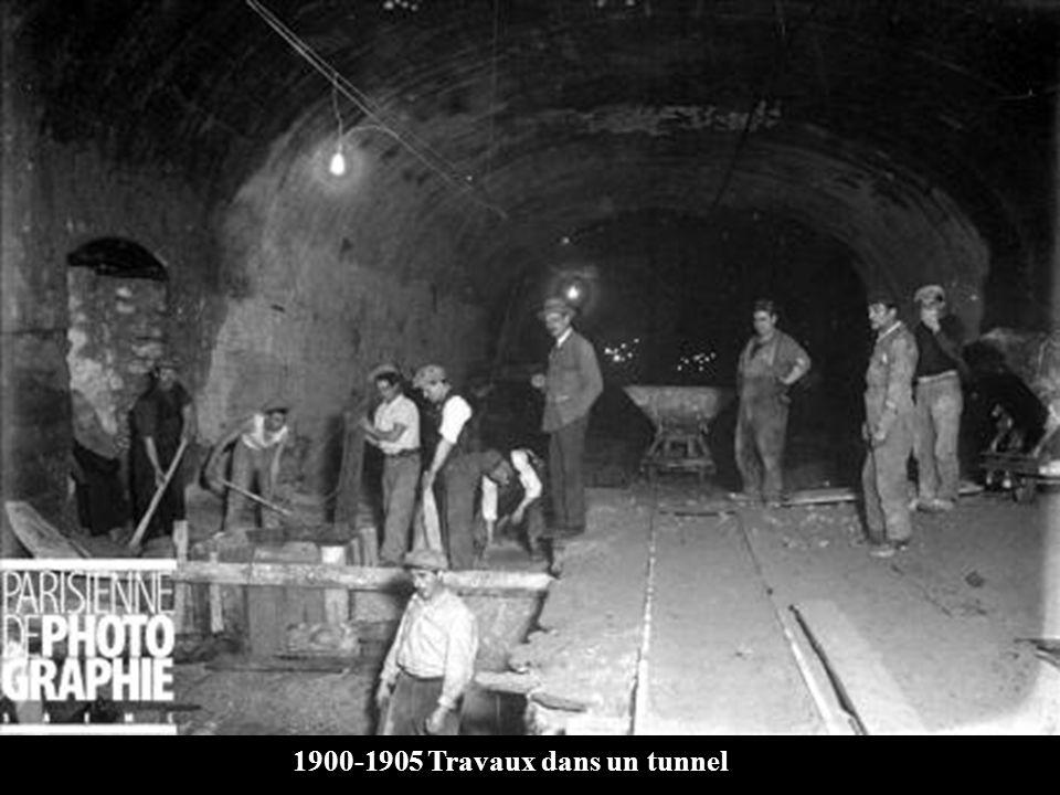 1900-1905 Travaux dans un tunnel
