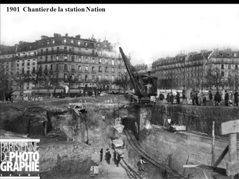 1901 Chantier de la station Nation