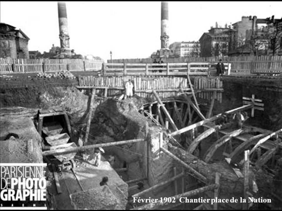 Février 1902 Chantier place de la Nation