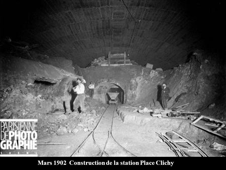 Mars 1902 Construction de la station Place Clichy