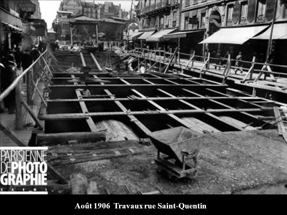 Août 1906 Travaux rue Saint-Quentin