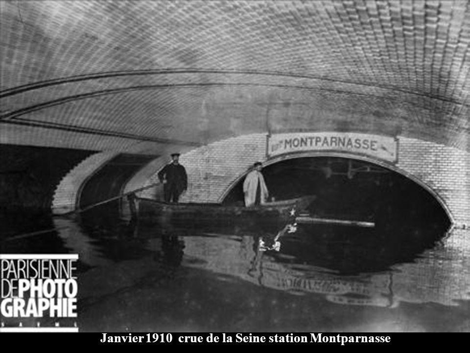 Janvier 1910 crue de la Seine station Montparnasse