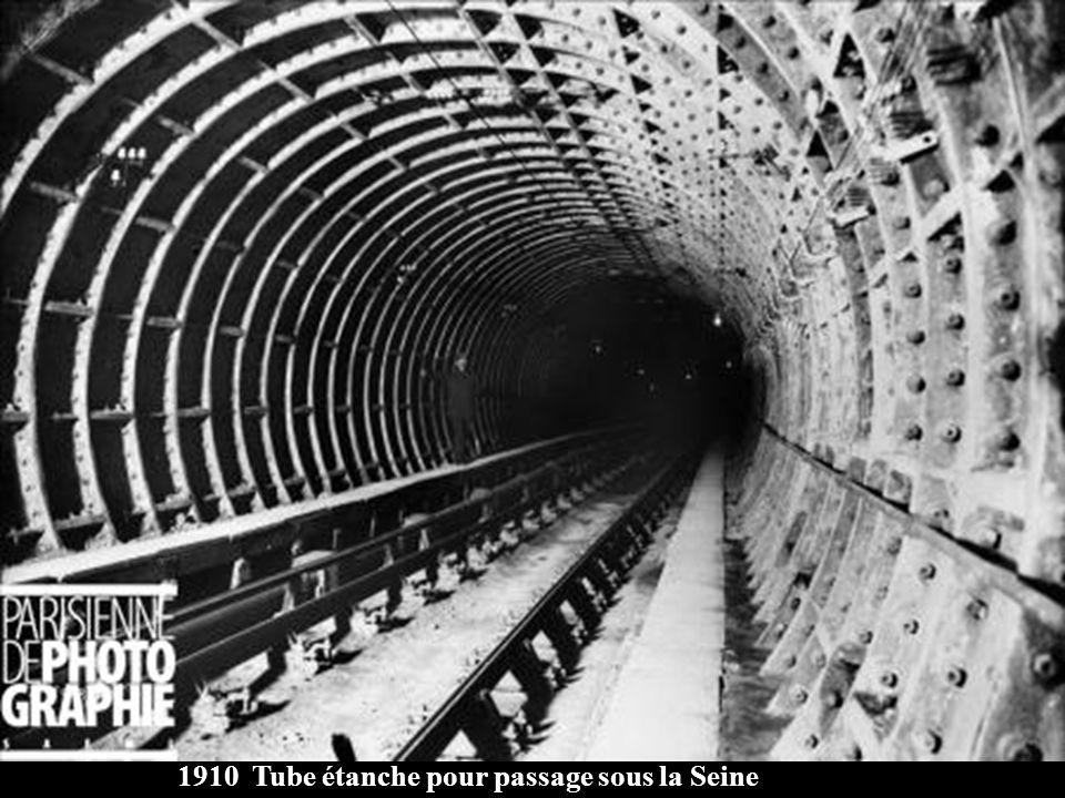 1910 Tube étanche pour passage sous la Seine
