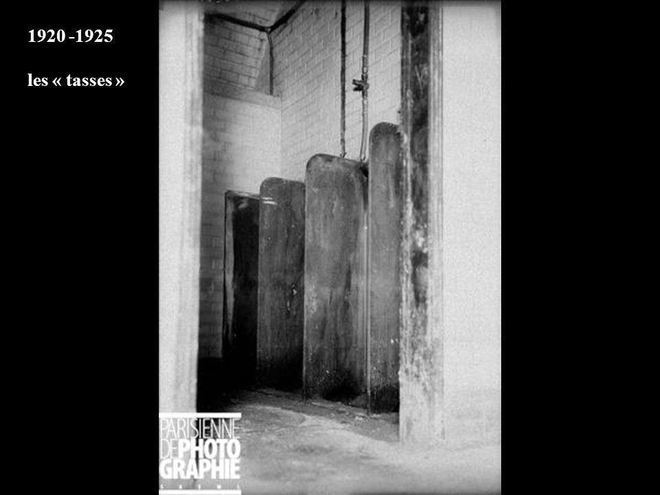 1920 -1925 les « tasses »