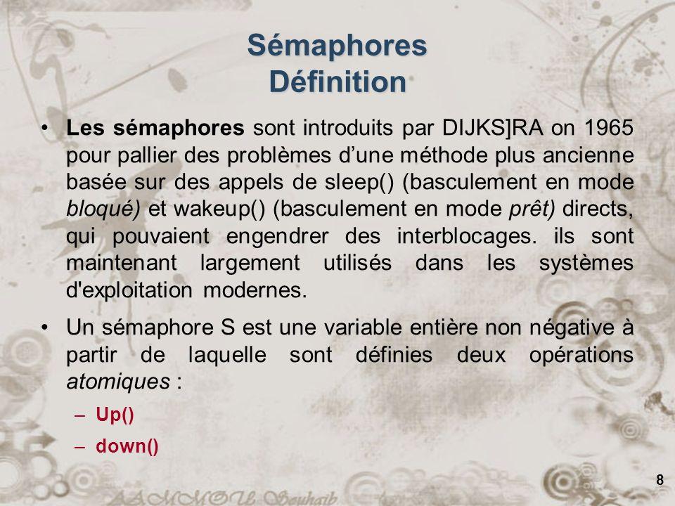 Sémaphores Définition