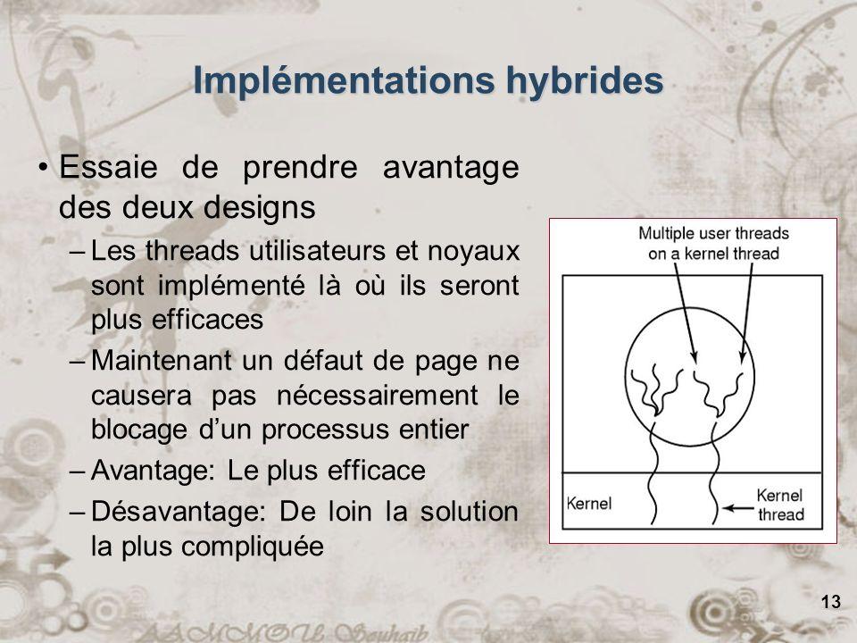Implémentations hybrides