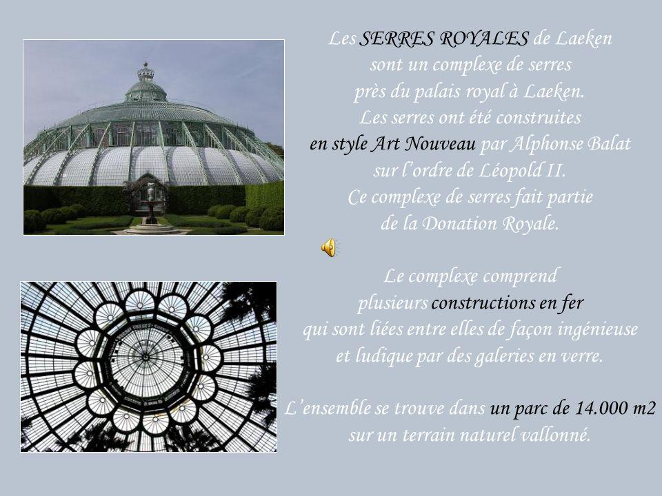 Les SERRES ROYALES de Laeken sont un complexe de serres près du palais royal à Laeken. Les serres ont été construites en style Art Nouveau par Alphonse Balat sur l'ordre de Léopold II. Ce complexe de serres fait partie de la Donation Royale.