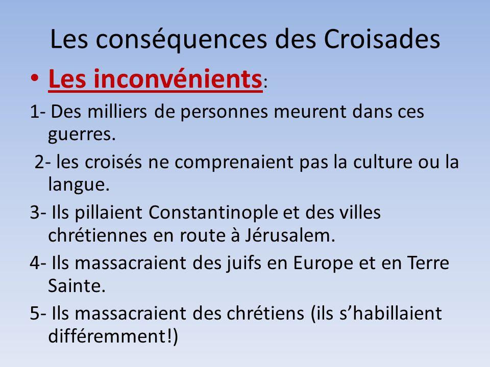 Les conséquences des Croisades