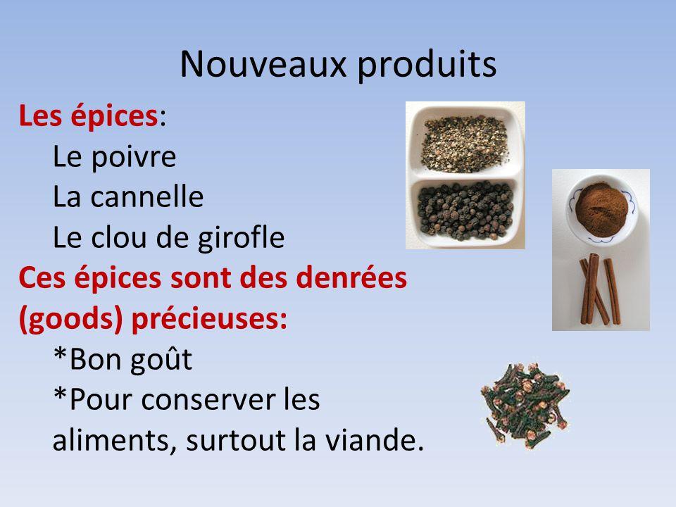 Nouveaux produits Les épices: Le poivre La cannelle Le clou de girofle