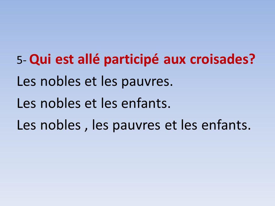 Les nobles et les pauvres. Les nobles et les enfants.
