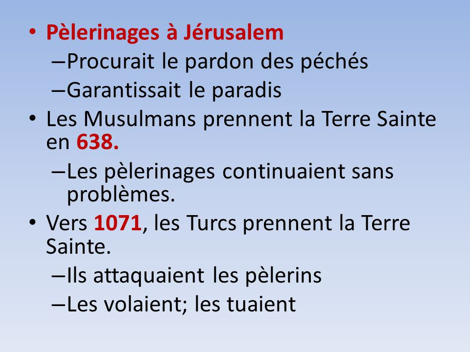 Pèlerinages à Jérusalem