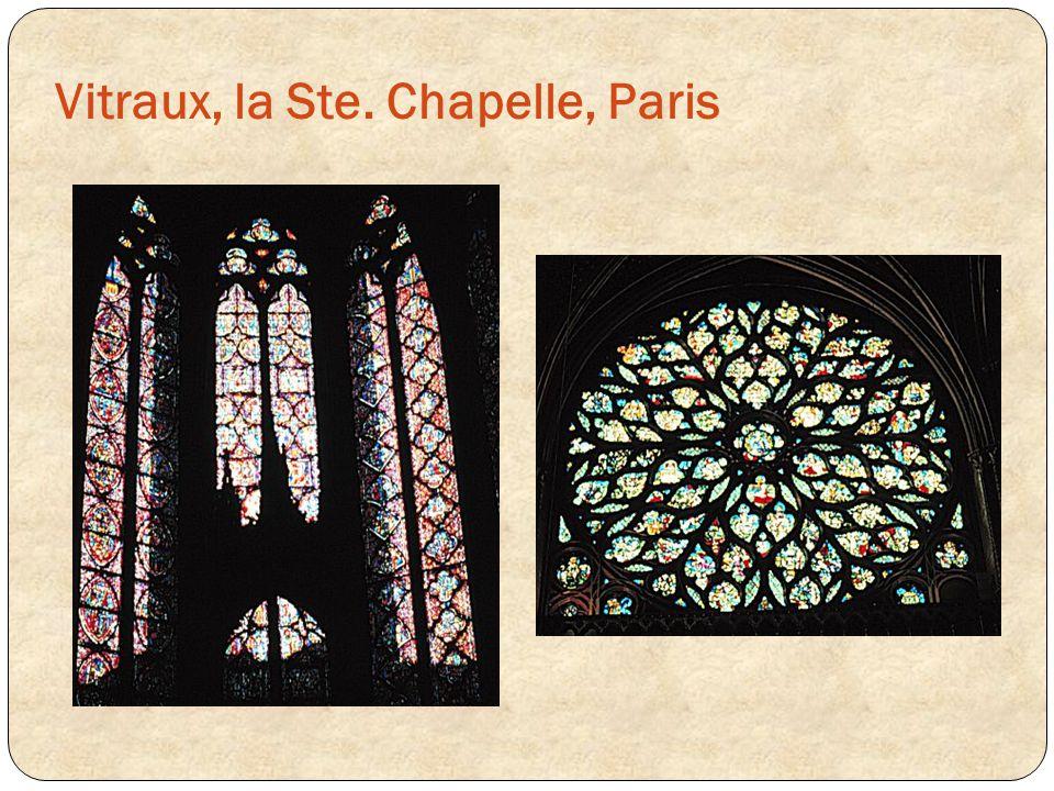 Vitraux, la Ste. Chapelle, Paris
