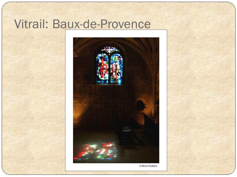 Vitrail: Baux-de-Provence