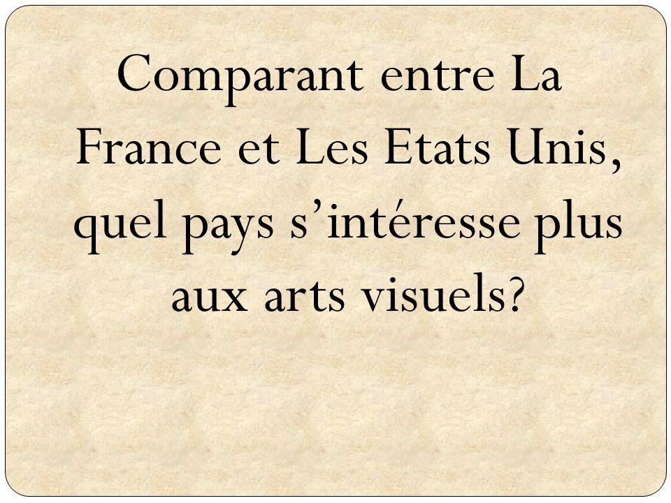 Comparant entre La France et Les Etats Unis, quel pays s'intéresse plus aux arts visuels