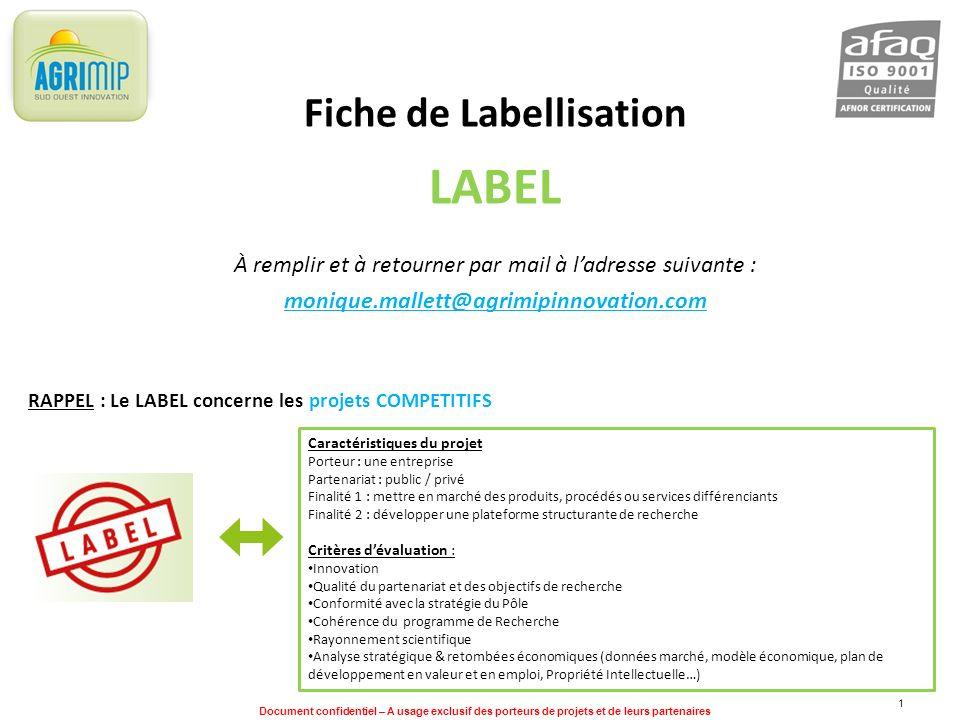 Fiche de Labellisation
