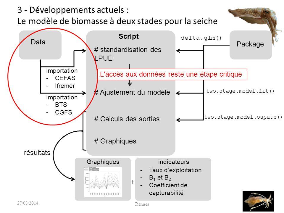 3 - Développements actuels : Le modèle de biomasse à deux stades pour la seiche